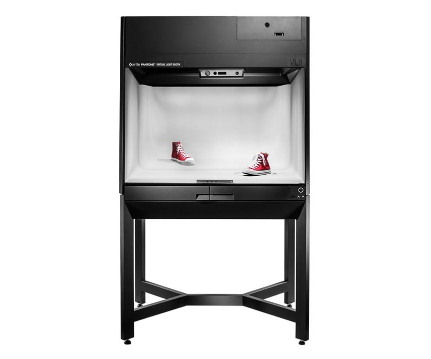 The Virtual Light Booth is part of X-Rite's Total Appearance Capture system, which allows users to compare 3D renderings with physical materials and samples.