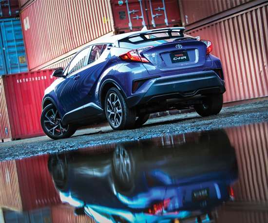 Yes, that's a Toyota: the 2018 C-HR. No, it doesn't look like anything that's come from that brand  (at least since the 2000 Celica).