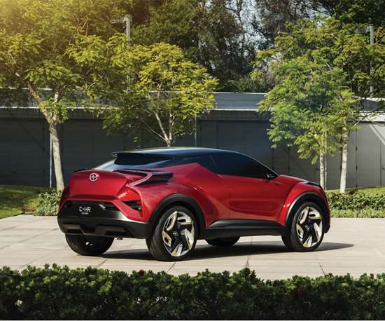 This is the Scion Concept revealed in 2015 that was transformed to the production 2018 Toyota C-HR. (Because Scion no longer exists.)