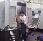 Ryka Molds' five-axis, high-speed machining center