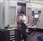 Ryka Molds' five-axis, high-speed machining center