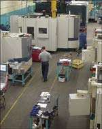 CNC manufacturing department