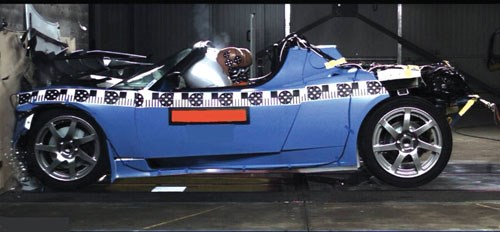 Tesla Roadster crash test
