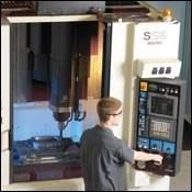 Machining a hardened mold