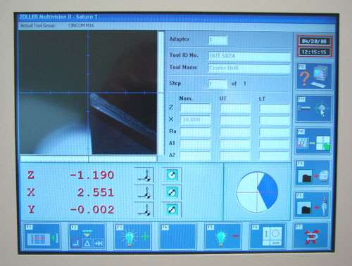 Monitor on Zoller Presetter