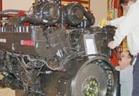 Completed diesel engine
