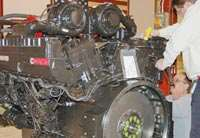 Completed diesel engine