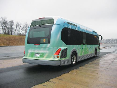 Proterra EcoRide bus from back
