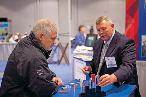 Tooling engineers, technology managers and business development managers walked the show floor