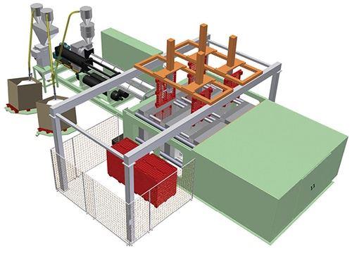 Lumina Pallateer structura foam molding system from Wilmington Machinery
