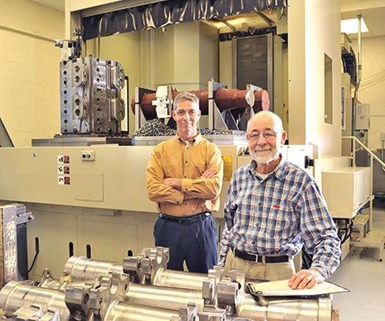 Steve Young, president of Alro Machine Company (left) and his father, company founder Ron.
