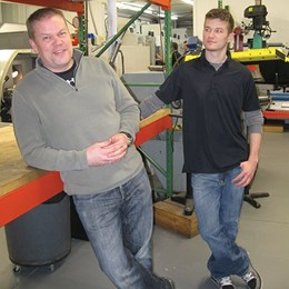 Jon Baklund and his son Justin.