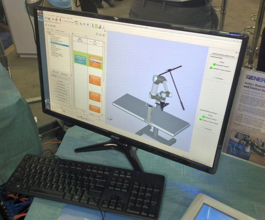 Actin robotics simulation