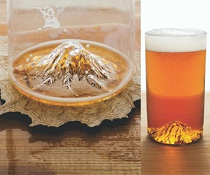 mountain in glass