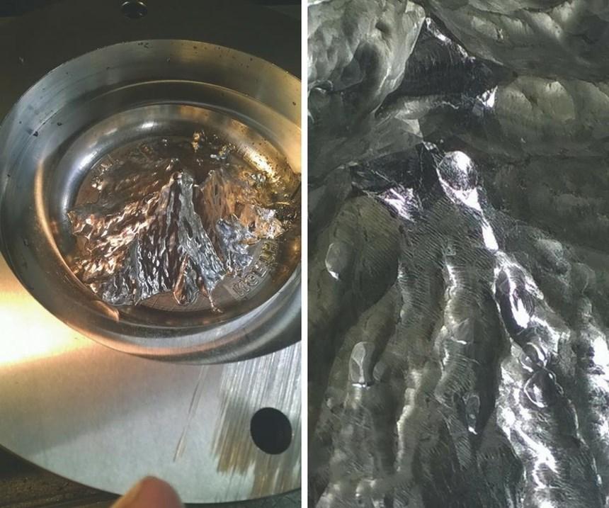 Esto da una idea de los detalles nítidos que las máquinas C&L introducen en estos moldes de acero inoxidable.