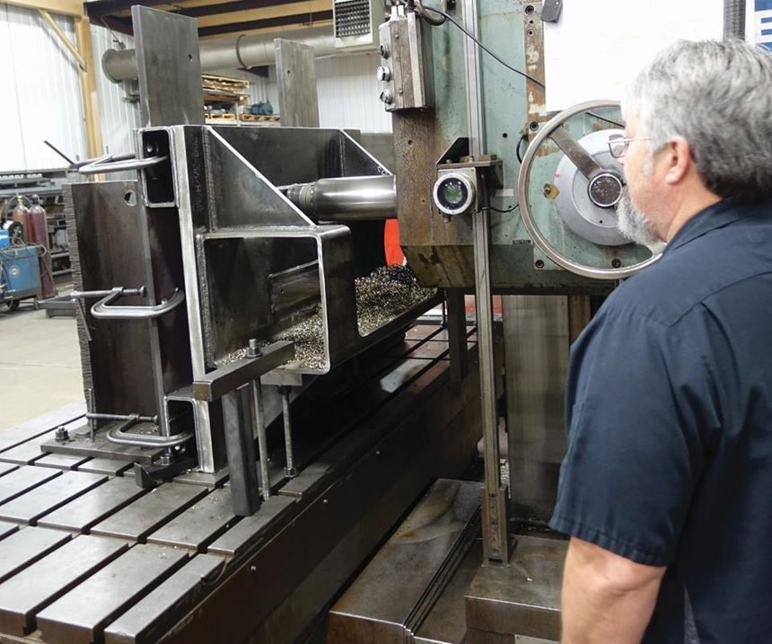 machining a weldment
