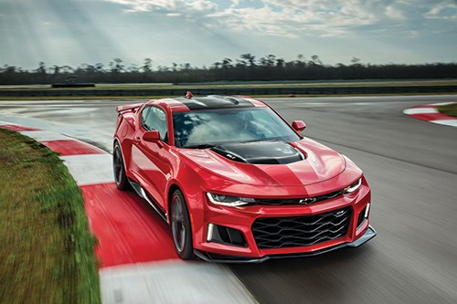 The ZL1 version of the sixth-generation Camaro. When the development program commenced, variants like this were taken into account for the fundamental engineering of the vehicle.