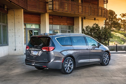 While the previous generation of the Chrysler minivan has more of a geometric approach, the Pacifica is more organic, with corners giving way to curves.