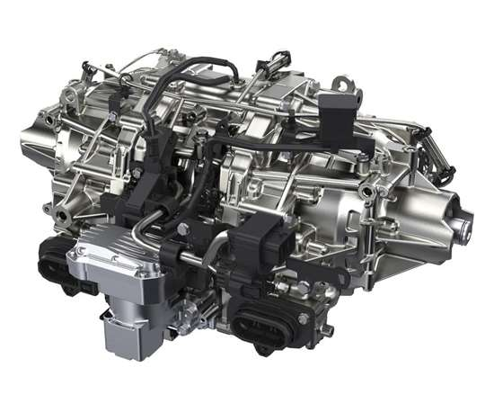 This is the Sport Hybrid's twin motor unit, derived from that used in the NSX super cars, which is positioned between the rear wheels, where the AWD rear differential is located in a non-hybrid MDX. It contains two 36-hp electric motors that are located back to back. The motors not only help improve launch performance, but because they operate independently, they facilitate dynamic torque vectoring.