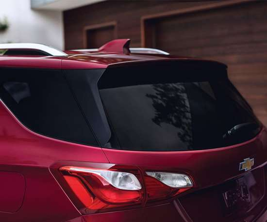 The spoiler helps improve aero. There are LED taillights available. On the previous-generation model the taillights had more of a vertical orientation. The horizontal lights help make the vehicle seem more planted on the ground.