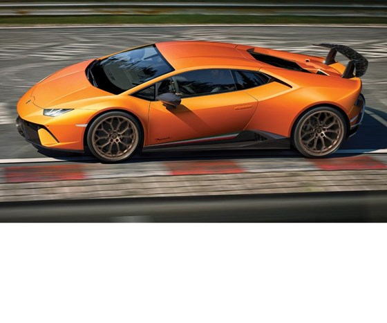 The Huracán Performante: really fast technology.