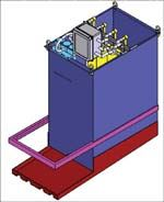 Schematic of stainless steel insert/rinse tank