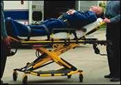 Power-Pro powered ambulance cot