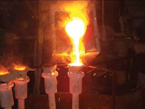 ceramic mold heating in furnace