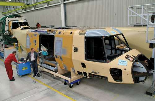 Eurocopter uses SL-Laser Systems laser placement system for assembly.