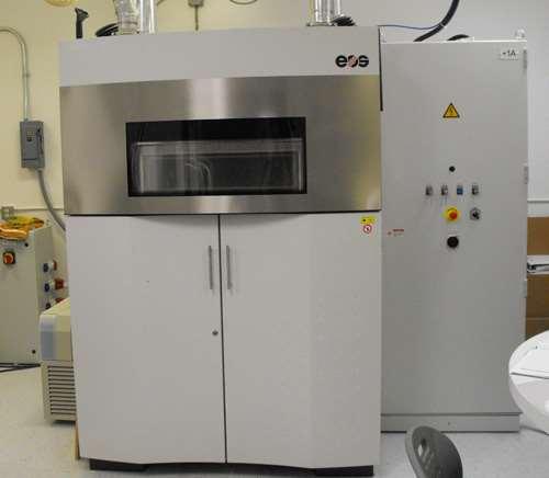 EOS laser sintering machine