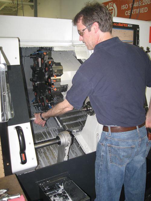 Operator at machine