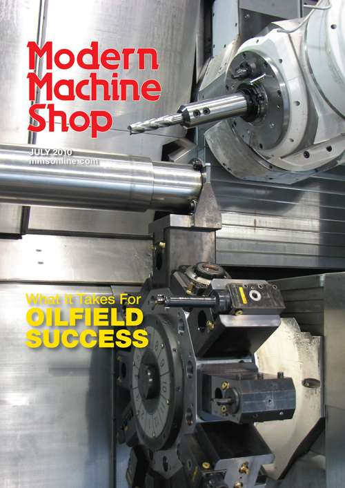 Modern Machine Shop cover, July 2010