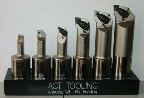 set of the collet-less boring bars