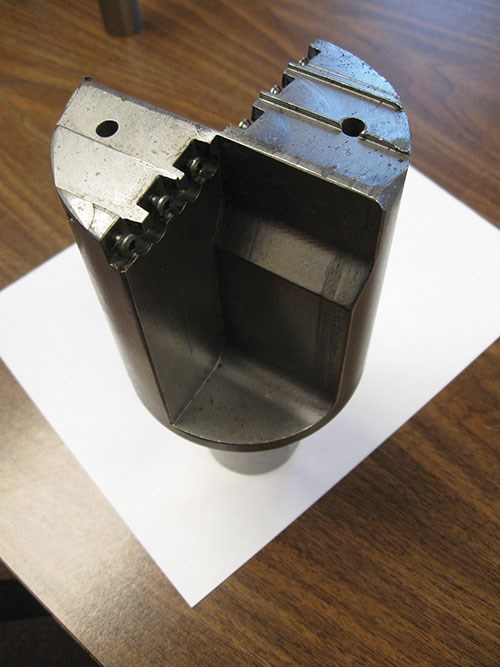 cutter for making a 4-inch-diameter blind hole