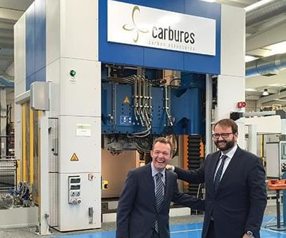 Carbures' CEO Roberto Rey and Josef Neuhäusler,