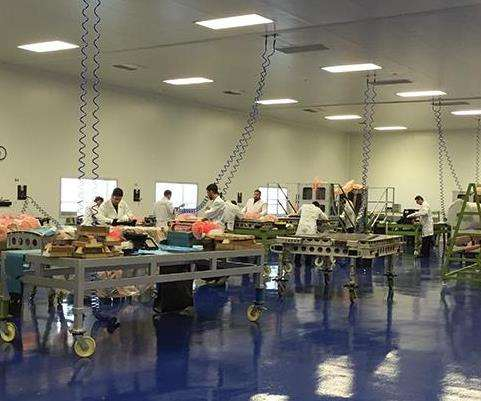 cleanroom at the Jerez plant