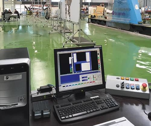 automated C-scan nondestructive testing (NDT) gantry machine