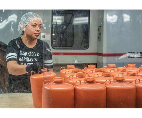 corrosive chemical containers
