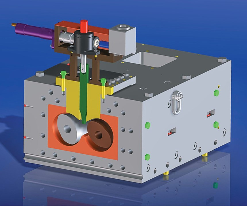 Farrel-Pomini Continuous Mixer adjustable mixing dam