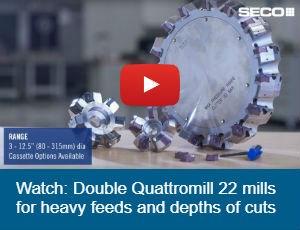 Seco Double Quatromill 22 face mills