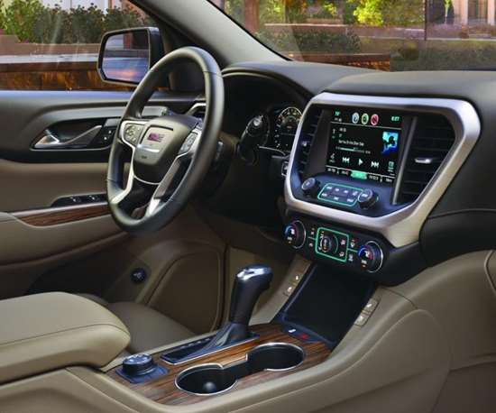 Tim Babbitt, who heads up GMC Connected Applications, says that not only does the new Acadia offer Apple CarPlay and Android Auto, but they've created a system that allows high customization as well as the ability to download apps like Glympse to provide the kind of connectivity that is now expected by consumers.