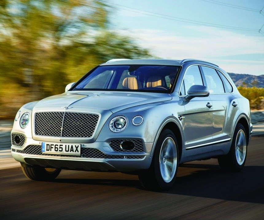 The 2017 Bentayga, which shares a platform with the Audi Q7 and Porsche Cayenne, is Bentley's first SUV.