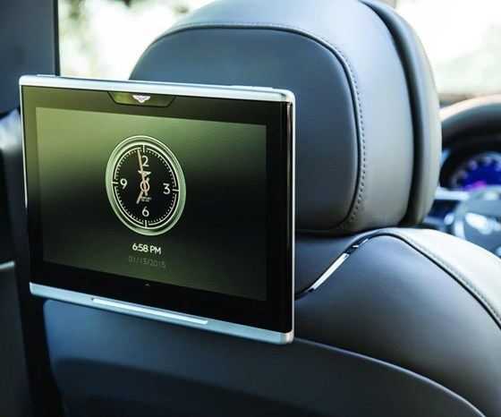 Rear-seat passengers get their own Android tablets.