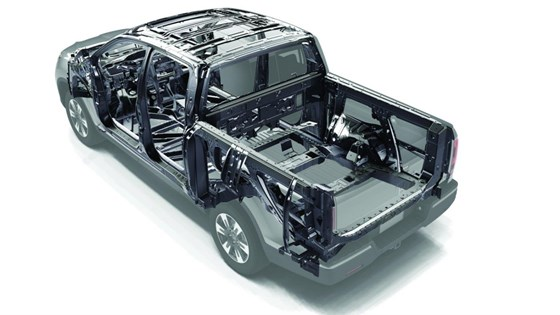 Extensive use of high- and ultra-high-strength steels are used to build the bones of the Ridgeline.