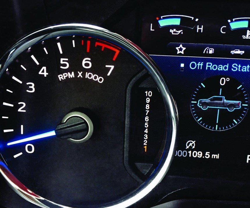 Look carefully: You've not seen that countdown sequence of numbers on a light-duty pickup truck before: the 2017 Ford F-150 is being offered with a 10-speed automatic, the first in a volume production vehicle application.
