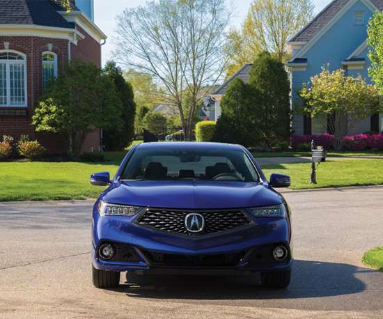 The A-Spec trim level TLX has an exclusive front fascia, with a matte black diamond pentagon grille with a black chrome surround, and round LED fog lights. Around back there is a gloss black decklid spoiler, a rear diffuser and round, four-inch exposed exhaust tips.