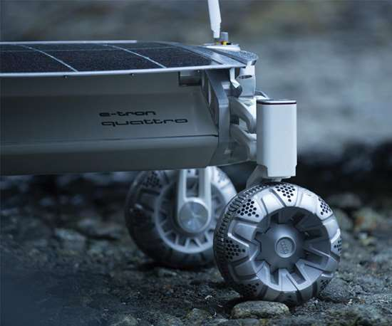 The Audi all-wheel drive expertise is being deployed for the rover, as is the company's know-how in aluminum construction. They're also using  3D metal printing to build the vehicle.