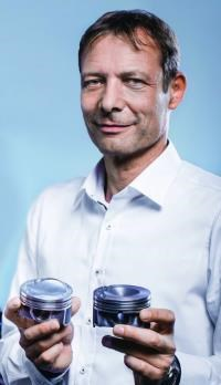 """Dr. Ralf Budack, after whom the """"B cycle"""" is named. Essentially the intake valves are closed sooner in the cycle when the engine is operating under partial loads—as in everyday driving—and there is a high compression ratio (11.7:1) so there is improved combustion, which means better fuel efficiency."""