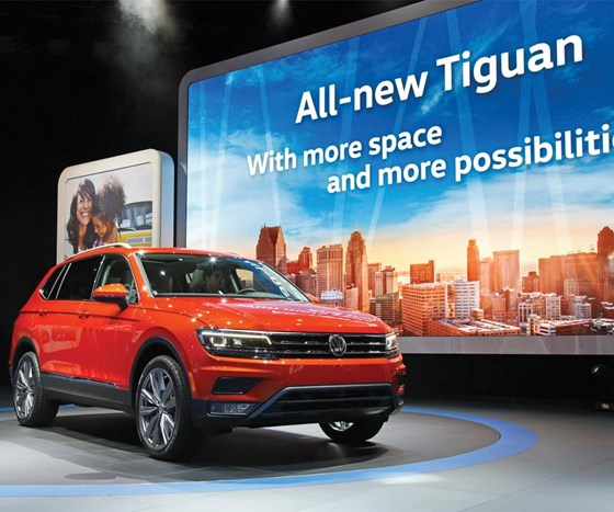 The 2018 Tiguan is 10.7 inches longer than the model it replaces and offers as much as 57 percent more cargo space.