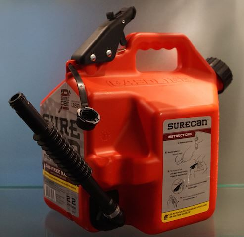 blow molded gasoline can